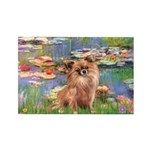 Lilies / Chihuahua (lh) Rectangle Magnet (10 pack)