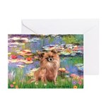 Lilies / Chihuahua (lh) Greeting Cards (Pk of 20)