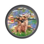 Lilies / Chihuahua (lh) Wall Clock