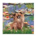Lilies / Chihuahua (lh) Tile Coaster