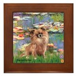 Lilies / Chihuahua (lh) Framed Tile