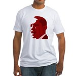 Obama Red Portrait Fitted T-Shirt