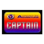 Captain Kids Dark Rectangle Sticker