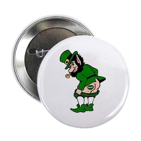 "Mooning Leprechaun 2.25"" Button (10 pack)"