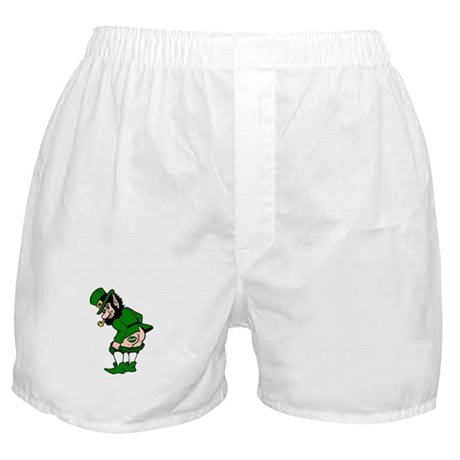 Mooning Leprechaun Boxer Shorts