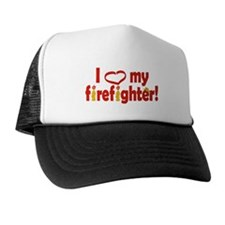 I Heart My Firefighter Trucker Hat