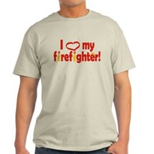 I Heart My Firefighter T-Shirt