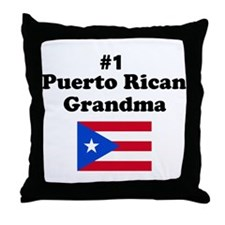 #1 Puerto Rican Grandma Throw Pillow