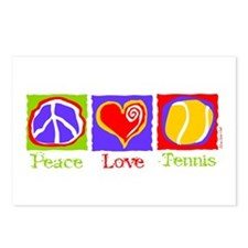 Peace Love Tennis Postcards (Package of 8)