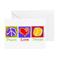 Peace Love Tennis Greeting Cards (Pk of 10)