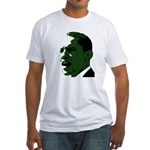 Obama's Face Green Fitted T-Shirt