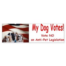 My Dog Votes NO on Anti Pet Legislation