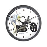 School Girl Chopper Angel Wall Clock