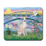 Lilies /Italian Greyhound Mousepad
