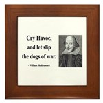 Shakespeare 16 Framed Tile