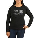 Shakespeare 16 Women's Long Sleeve Dark T-Shirt