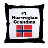 #1 Norwegian Grandma Throw Pillow