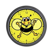 Friendly Bee 2 Wall Clock