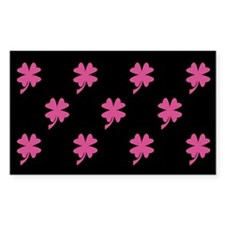 Pink Shamrock Pattern Rectangle Decal