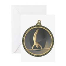 Men's Gymnastics Highbar Emblem Greeting Card