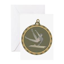 Men's Gymnastics Pommel Horse Greeting Card