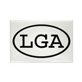 LGA Oval Rectangle Magnet (10 pack)