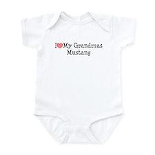 I Love My Grandma's Mustang Infant Bodysuit