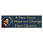 A New Voice of Hope and Change Obama sticker