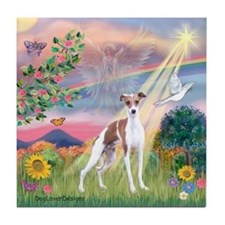 Cloud Angel / Ital Greyhound Tile Coaster