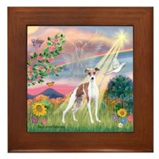 Cloud Angel / Ital Greyhound Framed Tile