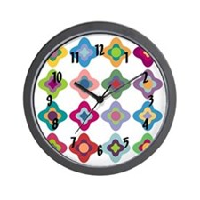 Scandinavian Flowers Wall Clock