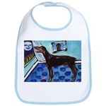 DOBERMAN PINSCHER art Bib