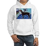 DOBERMAN PINSCHER art Hooded Sweatshirt