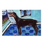 DOBERMAN PINSCHER art Postcards (Package of 8)