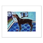 DOBERMAN PINSCHER art Small Poster