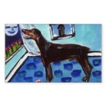 DOBERMAN PINSCHER art Rectangle Sticker