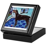 DOBERMAN PINSCHER art Keepsake Box