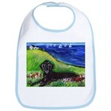 Flattie field with Sailboats Bib