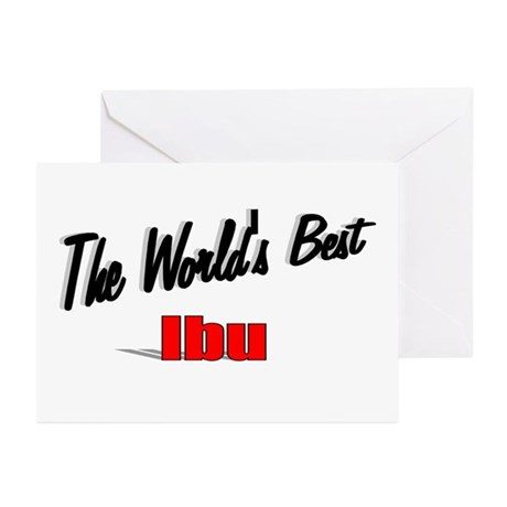 """The World's Best Ibu"" Greeting Cards (Pk of 20)"