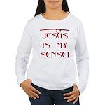 Jesus Katana Women's Long Sleeve T-Shirt