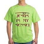 Jesus Katana Green T-Shirt