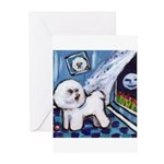 Bichon Frise cs moon Greeting Cards (Pk of 10)