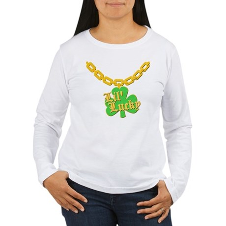 Lil' Lucky Womens Long Sleeve T-Shirt
