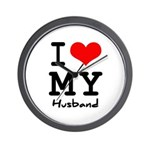 I love my husband Wall Clock