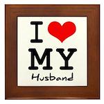 I love my husband Framed Tile