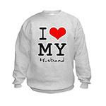 I love my husband Kids Sweatshirt