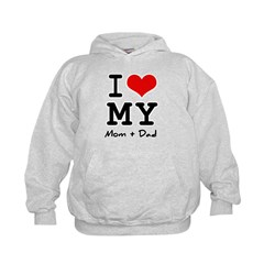 I love my Mom and Dad Kids Hoodie