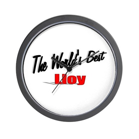 """The World's Best Lloy"" Wall Clock"