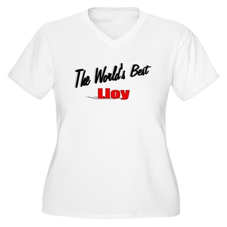 """The World's Best Lloy"" Women's Plus Size V-Neck T"