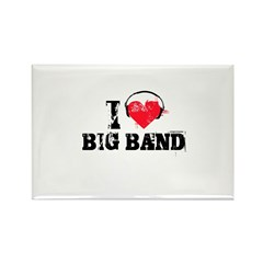 I love big band Rectangle Magnet (100 pack)